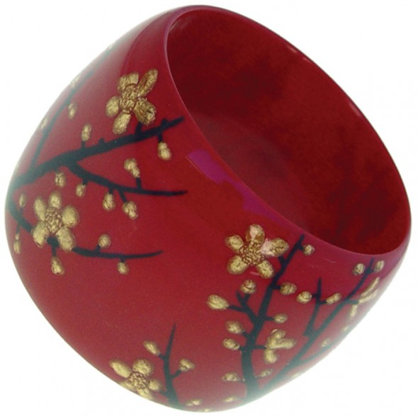 HANAMI  WIDE BANGLE. RED