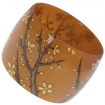 HANAMI WIDE BANGLE. BURNT ORANGE