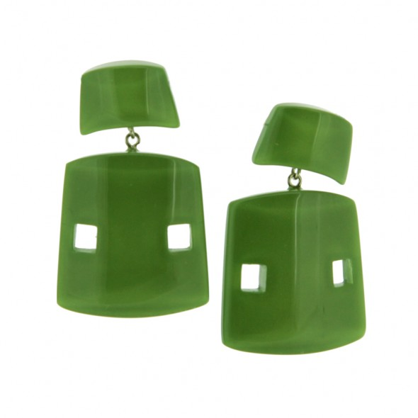 ISIS EARRING. GREEN