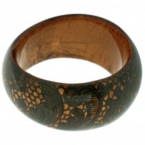 LACE DESIGN BANGLE. BRONZE