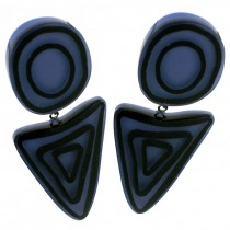 ELEMENTS ROUND  / TRIANGLE EARRING.  BLUE