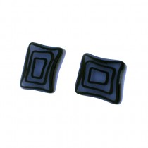 ELEMENTS SQUARE EARRING.  BLUE