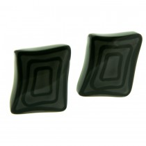 ELEMENTS SQUARE EARRING.  GREY