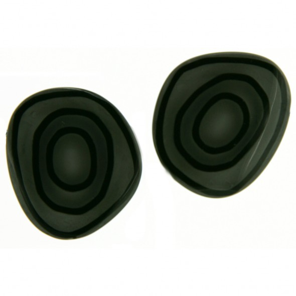 ELEMENTS ROUND EARRING.  GREY