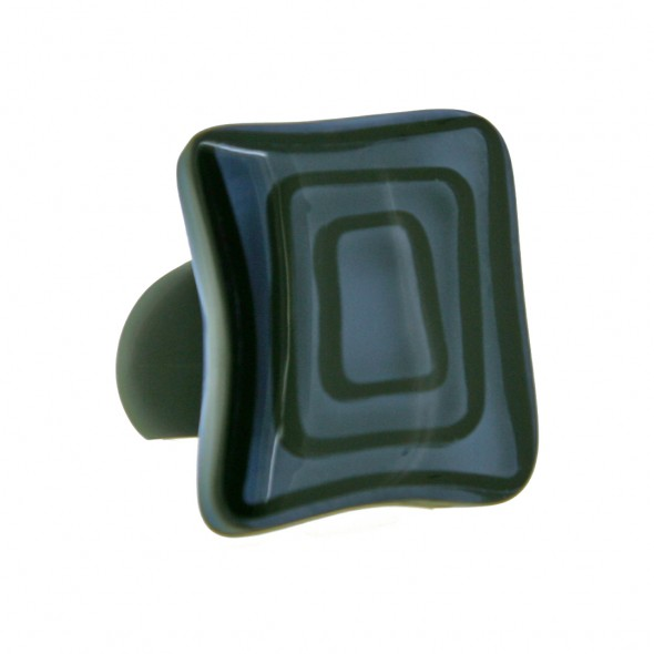 ELEMENTS SQUARE BEAD RING.  BLUE