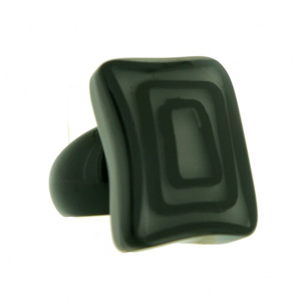 ELEMENTS SQUARE BEAD RING.  GREY