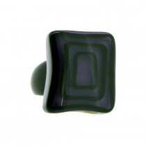 ELEMENTS SQUARE BEAD RING.  PURPLE
