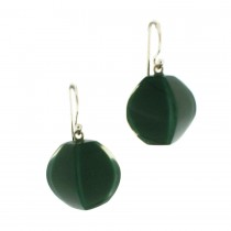 ARABESQUE EARRING. LEAF GREEN