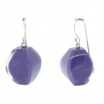 ARABESQUE SHORT HOOK EARRING. LAVENDER