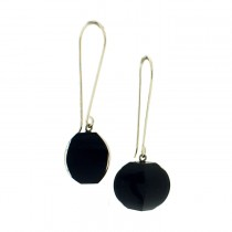 ARABESQUE EARRING. BLACK BLUE