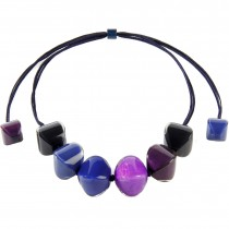 ARABESQUE MEDIUM BEAD NECKLACE. PURPLE