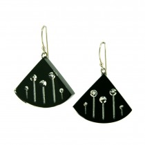 STARDUST LARGE EARRING. BLACK