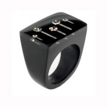 STARDUST RING. BLACK