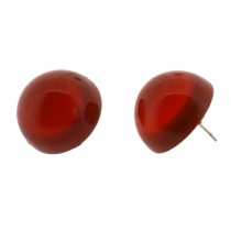 COLORS DOME EARRING.  RED