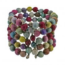 ZULU PEARL CUFF. MULTI COLOR