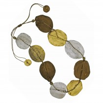 Jacaranda Mod Pod Necklace.  Metallic Colors