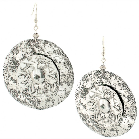 Large Round Aluminum Earrings