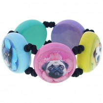 Dogs Stretch Bracelet.  Multi