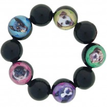 Dog Stretch Ball Bracelet. Black