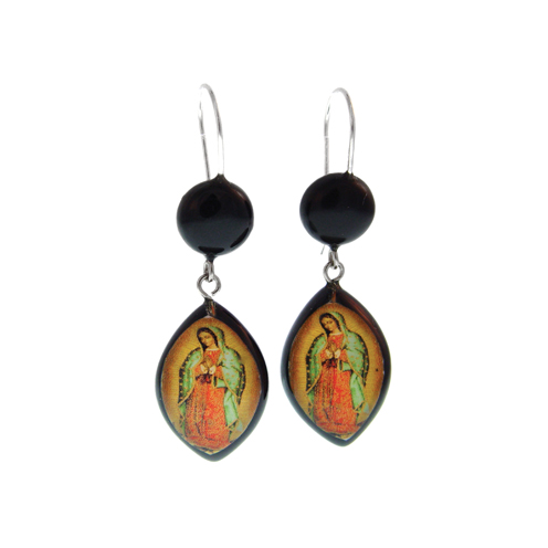 Virgin of Guadalupe Resin Earring