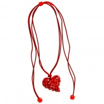 Twisted Heart Pendant. Red
