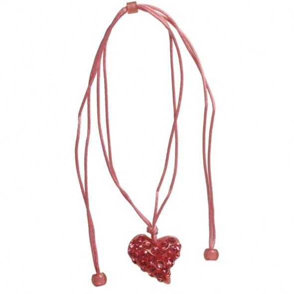 Twisted Heart Pendant.  Pink
