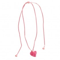 Twisted Heart Pendant. Pink (Small)