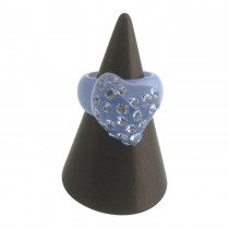Twisted Heart Ring. Blue (Small)