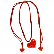 Classic Heart Pendant. Red