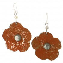 Flower Earring. Orange