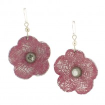 Flower Earrings.  Pink