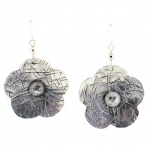 Flower Earring. Silver