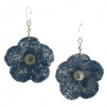 Flower Earring. Blue
