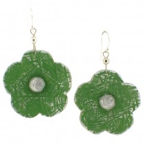 Flower Earring. Green