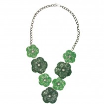 FLOWER NECKLACE.  GREEN