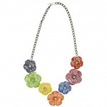 FLOWER NECKLACE. Multi