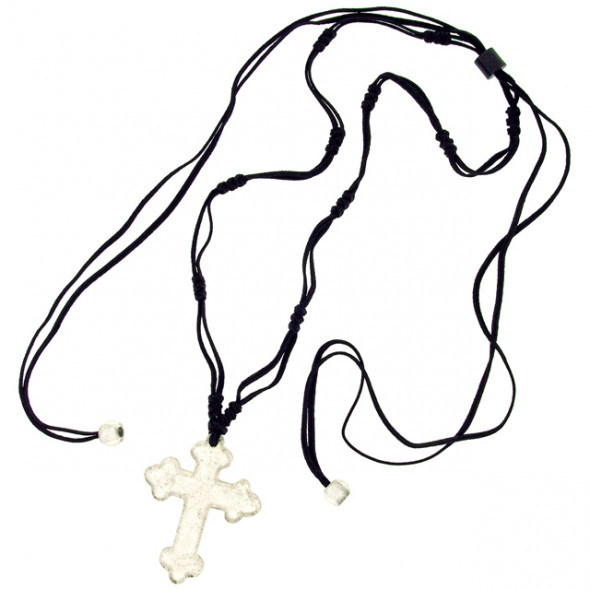 Silver Leaf Adjustable Cross.