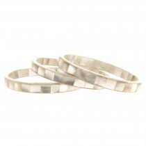 Thin Mother of Pearl Bangle. White