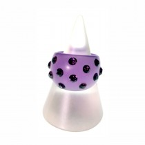 Domed Crystal Resin Ring. Purple